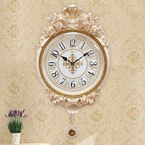 YYF Wanduhr Wohnzimmer Stille Wanduhr Stereo Uhr Moderne kreative Rose Gartenuhr Kunstuhr ( Farbe : A )