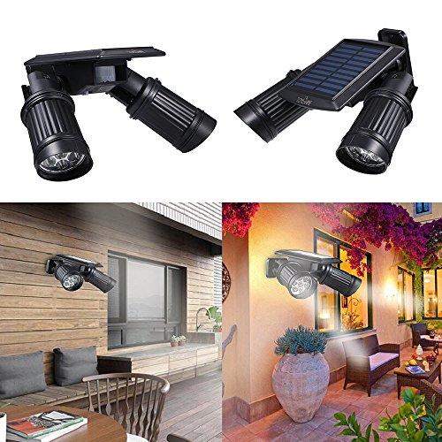 Tomshine Solarleuchte mit Bewegungsmelder 14 LED Solar Strahler Scheinwerfer 150LM Flutlicht Solar Spot IP44 Wasserdicht Outdoor Wandleuchte