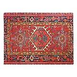 Gummi-Fußmatte für den Innenbereich, rutschfest, für Zuhause, Küche, Tür, Teppich, 60x 40cm, Rot