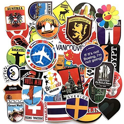 Szynd bandiera nazionale mappa adesivi pasquali per pvc impermeabile skateboard valigia moto chitarra fai da te decalcomanie bomb sticker 40pz