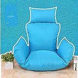 Cyt Cestello appeso Pp Cuscini imbottiti in cotone per sedie, Cuscino grande seduta Appeso Cuscino per sedie a uovo Cuscino per altalena Cuscino Materassino per sedia Tessuto di lino tessuto blu + Lin