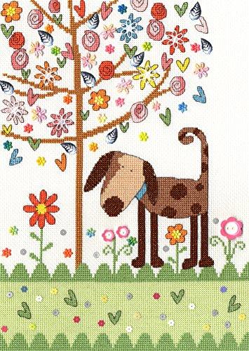 'Bothy Threads Kreuzstich Set–Daisy Patch Hund (Daisy Threads)