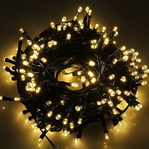 Denknova® 200er Solar LED Lichter Lichterkette Wasserdicht für Festival Garten Deko (warmweiß)