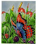 Butterfly Decorative Ceramic Tile Old Tupton Ware