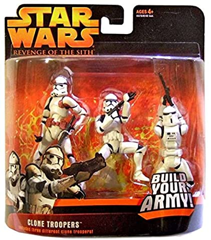 Clone Troopers (Red) Star Wars Revenge of the Sith Action