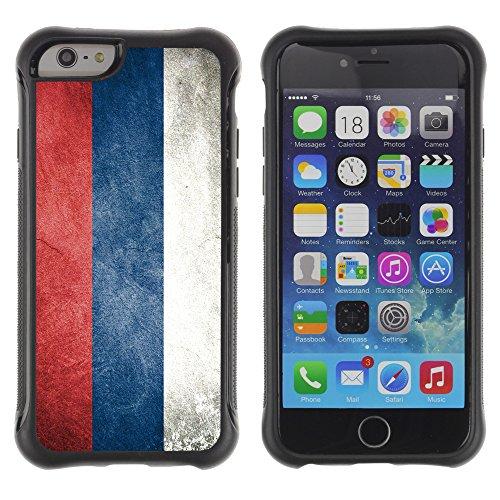 Graphic4You Serbien Serbisch Flagge Stoßfeste Anti-Rutsch Weichen Hülle Case Tasche Schale Schutzhülle für Apple iPhone 6 Plus / 6S Plus Design #4