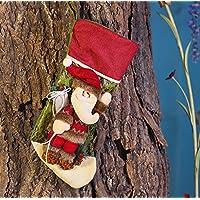 Moonmini 3D Calze Natalizie da Appendere Buste Regalo Natale Grandi Bustine Sacco Sacchetti Idee Regali Natale Decorazioni Addobbi Natalizi Originali - Babbo Natale