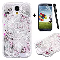 Tebeyy Samsung Galaxy Note 4 Case,Samsung Galaxy Note 4 Liquid Case,3D Creative Design [Flowing Liquid] Floating [Bling Glitter] Sparkle Star Crystal Clear Hard Protective Shell Case Cover for Samsung Galaxy Note 4 +1x Screen Protector +1x Stylus Pen-Wind Chime