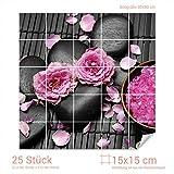Graz Design 765275_15x15_80 Fliesenaufkleber Wellness - Set für Kacheln | Bad-Fliesen mit Fliesenbildern überkleben (Fliesenmaß: 15x15cm (BxH)//Bild: 80x80cm (BxH))