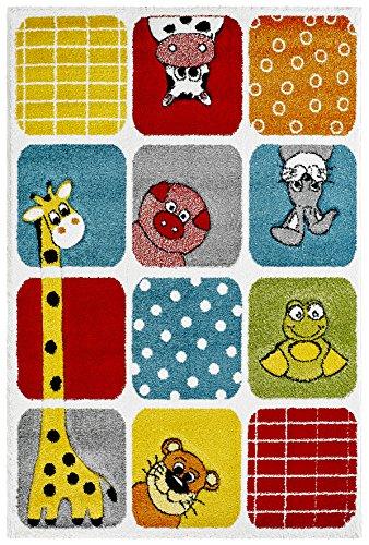 Kinderteppich tiere  Teppich Tiere Kinderzimmer Spielteppich Kidzz ZOO multi-colour ...