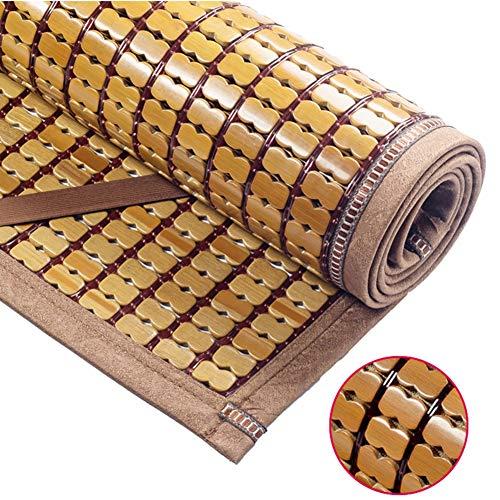 YJFENG Sommer-Schlafmatten Bambus Matratzen Strohmatte Doppelte Dazwischenliegende Linien Atmungsaktiv Glatt Rutschfester Gürtel Handgewebt,9 Größen,2 Farben (Farbe : Braun, größe : 1.35x1.95m)