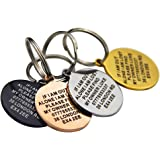Personalised Engraved Dog Tag ID Name Tags for Cat Puppy Pet Collar Tag Hand Finished in UK