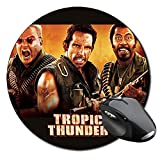 Tropic Thunder Ben Stiller Robert Downey Jr Jack Black Mauspad Round Mousepad PC