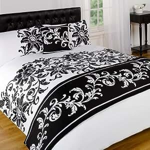 Dreamscene Asha Parure de lit Noir/blanc Simple
