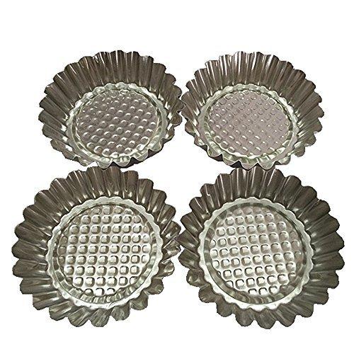 Set of 20, MYStar 3-3/4 Fluted Design Round Shape Non-stick Aluminum Tart Mold, Mini Pie Tin, Tartlet Pan by MYStar Fluted Mold Pan