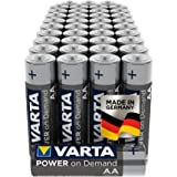 VARTA Power On Demand - Pilas alcalinas AA / LR6 / Mignon (pack de 40 unidades, 1.5 V)