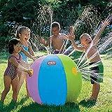 HSTV Spielplatz Aufblasbare Wasser Jet Ball Im Freien Spiel Wasserball Sommer Spaß Spray Beach Ball Rasen Ball Spielzeug Für Kinder