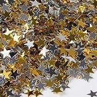 DALTON MANOR: 100 G/M2. STAR PAILLETTES LUCCICANTI, COLORE: ORO/ARGENTO