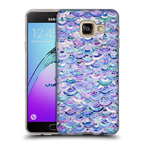 Offizielle Micklyn Le Feuvre Mosaik Und Amethyst Und Lapislazuli Marmor Muster Soft Gel Hülle für Samsung Galaxy A3 (2016)