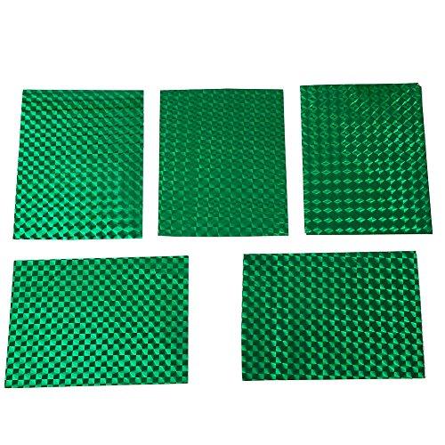 Alomejor Angelköder, holografisch, 10x 7,5cm DIY Klebeband Reflexbänder Dekoration, grün