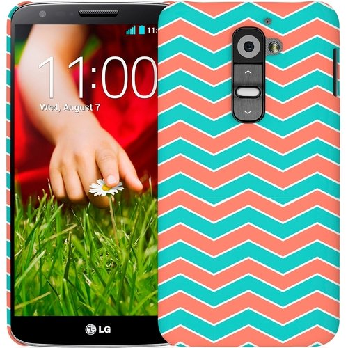 ies One Piece Slim-Fit Case Tasche Hülle for LG G2 - Mint Chevron (NOT Compatibl ()