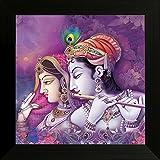 #3: SAF UV Textured Radha Krishna Religious Framed Painting (Synthetic, 34 cm x 2 cm x 34 cm, SANF6134)