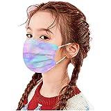 AWAKENLIAS Bambini 50 Pezzi Antipolvere Maschere Multistrato_Filtrazione > 96% 3_Strati Stampa Farfalla Maschere con Disegni