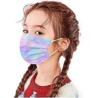 AWAKENLIAS Bambini 50 Pezzi Antipolvere Maschere Multistrato_Filtrazione > 96% 3_Strati Stampa Farfalla Maschere con…