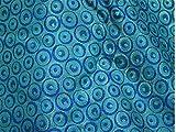 Brokat Seidenmischung für Hochzeiten, Türkis/Blau