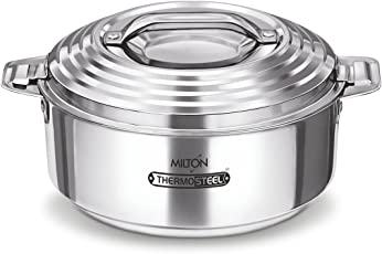 Milton Galaxia Stainless Steel Casserole, 3.5 litres, Silver