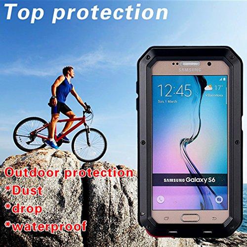 MNBS Phone Coque Etui Housse Antichoc Militaire Heavy Duty Shock Proof Survivor Protective Housse Pour iPhone 6/6SRed Black 7