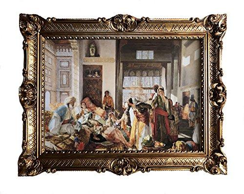 Gemälde Harem Orient Oriental orientalische bilder Bild mit Rahmen Wandbild 90x70cm Kunstdrucke und...