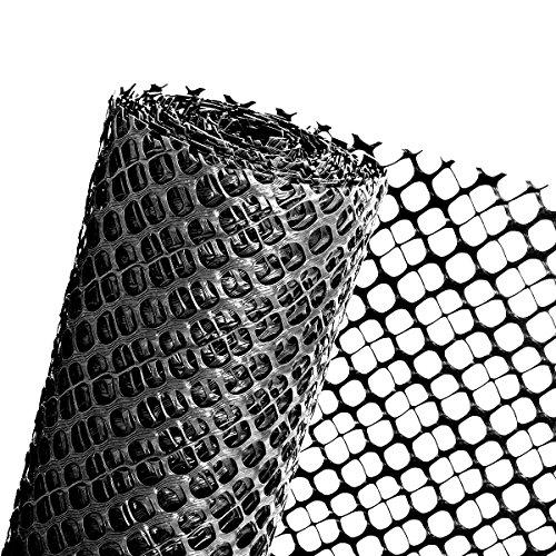 Haga® pare-neige Grille Clôture Protection pare-neige Clôture Clôture en noir 1,2 mX25 m