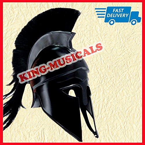 scher Helm mit Schwarz Plume, Mittelalter Gladiator Knight Spartan Helm (Griechischen Gladiator)