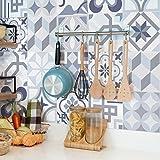Ambiance-Live Carreaux de Ciment adhésif Mural - azulejos - 10 x 10 cm - 24 pièces