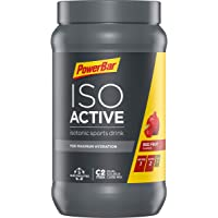 PowerBar Isoactive Isotonisches Sportgetränk (5 Elektrolyte und C2max Dual Source Carb Mix) Red Fruit Punch (1 x 600g)