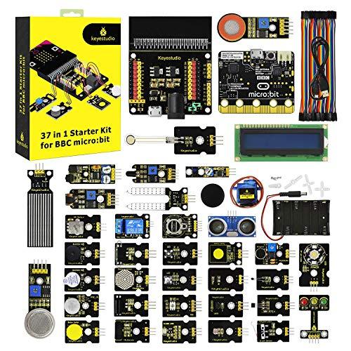 KEYESTUDIO 37 in 1 Starter Kit with Controller Board for BBC Micro bit Batterie-jumper-box