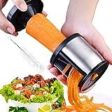 Spiraliseur de Légumes Coupe légume Spiralizer - XREXS Découpe-légumes pour Vos Fruits et légumes - Spirales, Juliennes, Spag