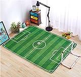LYD® Home Tessuto A Mano Tessuto Lavabile Cotone Knit 3D Spazio Netto Calcio Campo Mats Giochi Per L'Ambiente Ambientale Per Bambini Crawling Mat