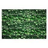 Zaunsichtschutz, Windschutz (30 versch. Motive) für Doppelstabmattenzaun *Weinblatt grün* beidseitig, 19cm, 26m Rolle