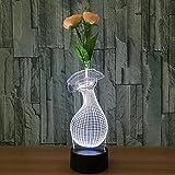 3D Arreglo floral Lámpara de Escritorio,Luz de Noche Táctil Remota Luces de Ilusión LED , flower pot B