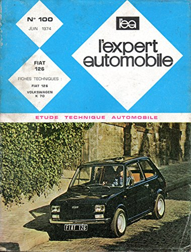 REVUE TECHNIQUE L'EXPERT AUTOMOBILE N° 100 FIAT 126