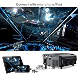 """Projector, GooDee 3500 Lumens Video Projector 200"""" HD LCD Home Cinema Projector Support 1080P HDMI VGA AV USB MicroSD for Home Entertainment, Party and Games"""