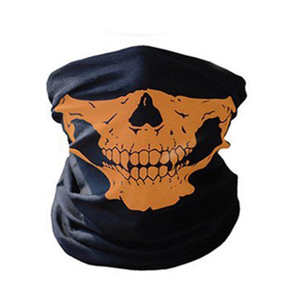 KKmoon Barga de Cuello Unseamed Skull Bandana Máscara de Cara Multifuncional Bufanda Térmica Adornos de Halloween