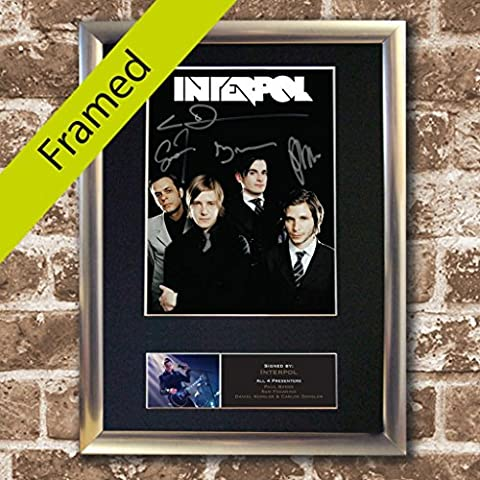 INTERPOL high quality reproduction autograph SILVER FRAMED Signed Photo PRINT A4 210 x 297mm