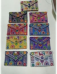 Embroidery Clutch With Elephant Design Multi Coloured