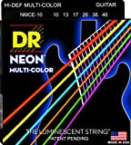 DR Neon NMCE-10 E-Gitarrensaiten mehrfarbig .010 - .046 Medium