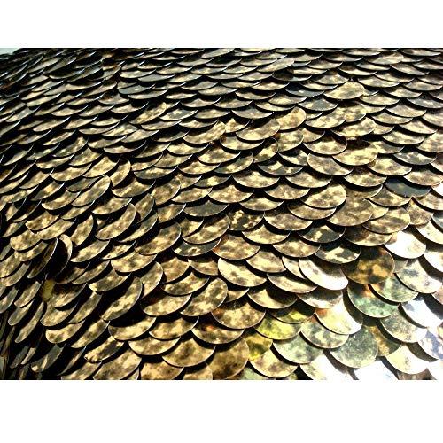 Gold Euro Shams Abdeckungen, 65x65 cm Euro-Kissenbezüge, Strukturierter Pailletten Glitter Prickelnde Euro Kissen Shams, Seide Euro Shams, Geometrisch Modern Euro Shams - Exotic Gold N Black Scales -