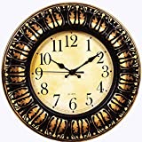 Purpledip Wall Clock in Antique Metal Fi...