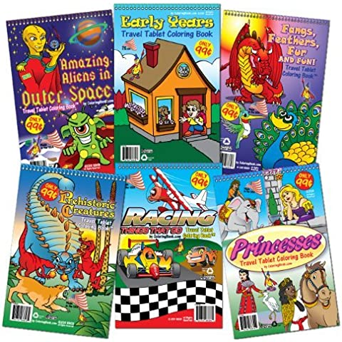 (Set of 6) Travel Tablet Coloring Books (5.5 x 8.5) by ColoringBook.com (2011-01-24) - 5.5 Tablet